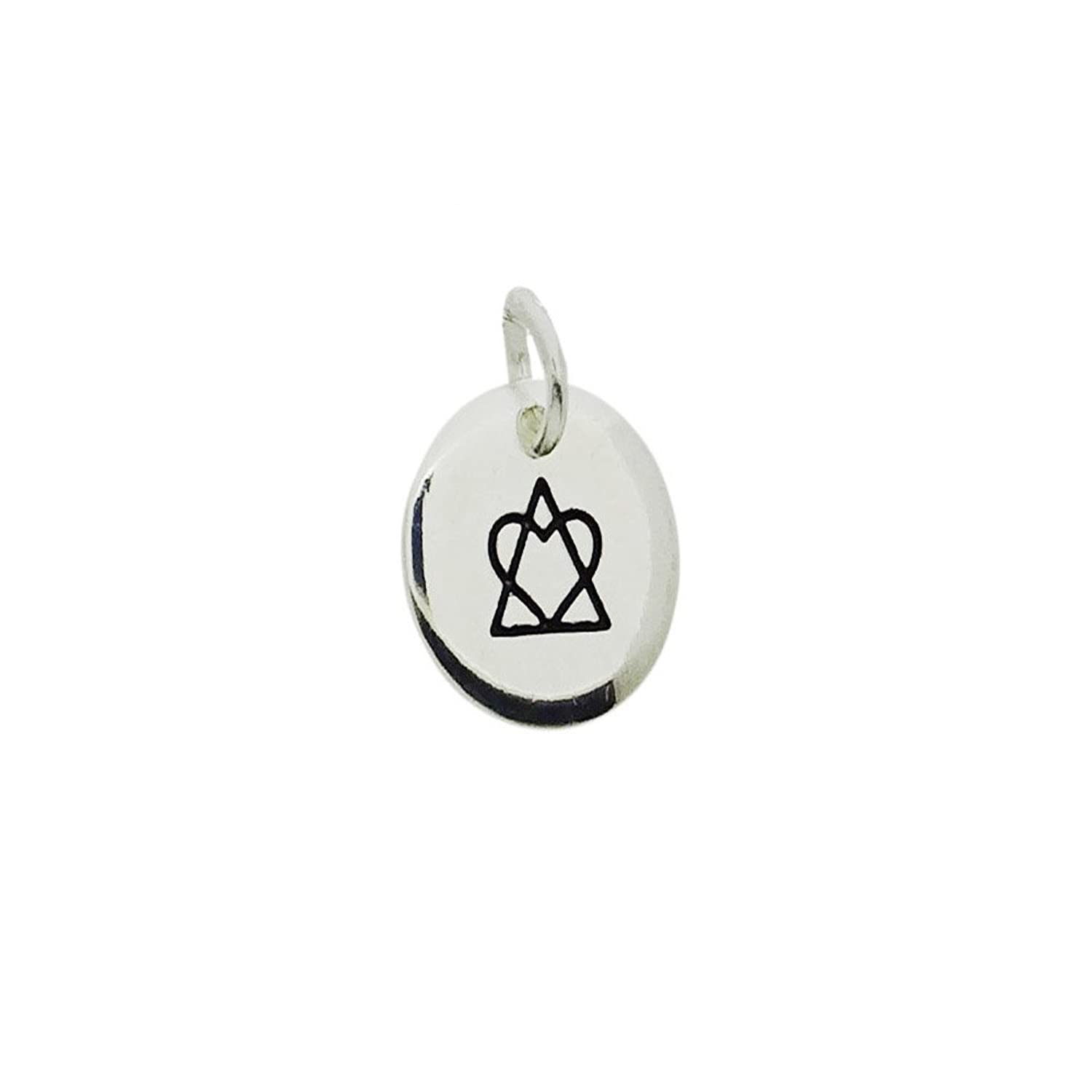 Amazon adoption symbol pendant heart and triangle silver amazon adoption symbol pendant heart and triangle silver plated base jewelry buycottarizona Image collections