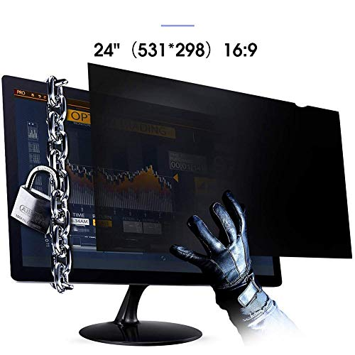 Per Newly 21-24 Inch Privacy Screen Filter for Widescreen Monitor – Computer Monitor Anti-Glare and Privacy Protector
