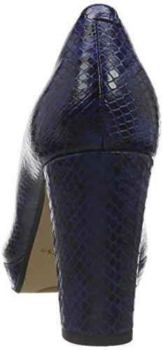 Donna Blue Leather con Clarks Tacco Snake Sienna Blu Dark Kendra Scarpe U8UxOqwTX