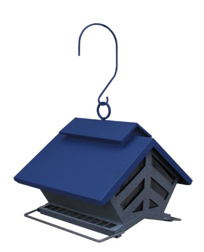 Chalet Metal Hopper Bird Feeder