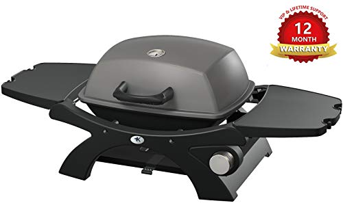 KCZAZY Liquid Propane Gas Grill for Outdoor Use, Portable Barbecue Grill