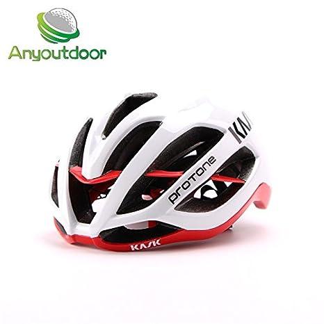 04ab84d1e0c Buy Generic White Red   kask protone Matte Black Bicycle Helmets Men Women  Helmet Back Light Mountain Road Bike Integrally Molded Cycling Size 54-61cm  ...