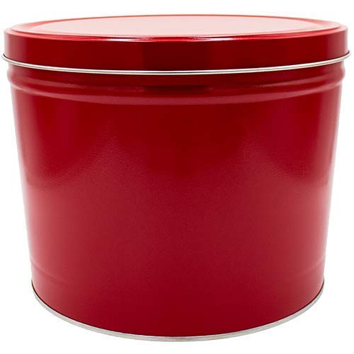 CDM product 2 Gallon Popcorn Tin - Butter, Cheddar and Caramel (Red) small thumbnail image