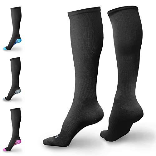 BAMS Premium Bamboo Compression Socks for Men, Women- Antibacterial 20-30 mmHg Medical Graduated Knee-High Sock with New Odor-Kill Technology