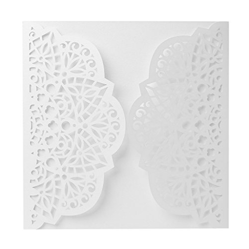 Invitations Business Open House (LANDUM Wedding Invitation Card Personalized Laser Cut Romantic Party Hollow Flower Lace)