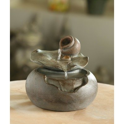 Jeco Lotus Leaf Tabletop Fountain