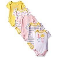 Nautica Baby Girls' 5 Pack Bodysuits