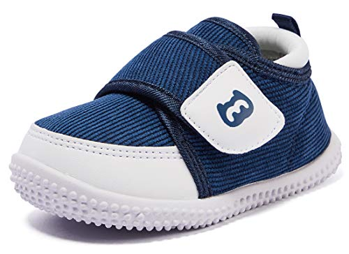 BMCiTYBM Baby Shoes Boy Girl Infant Sneakers Winter Warm Non Slip First Walkers 6 9 12 18 24 Months Navy Size 6