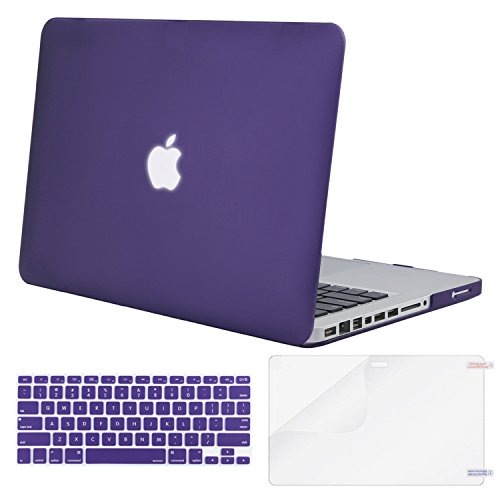 Mosiso Plastic Hard Case with Keyboard Cover with Screen Protector Only for Old MacBook Pro 13 Inch with CD-ROM (Model: A1278, Version Early 2012/2011/2010/2009/2008), Ultra Violet