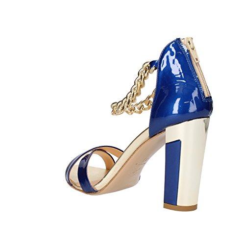MI AMOR Sandalias Mujer 37 EU Azul Charol AF18