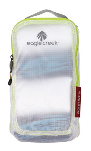 Eagle Creek Travel Gear Luggage Pack-it Specter Quarter Cube, White/Strobe