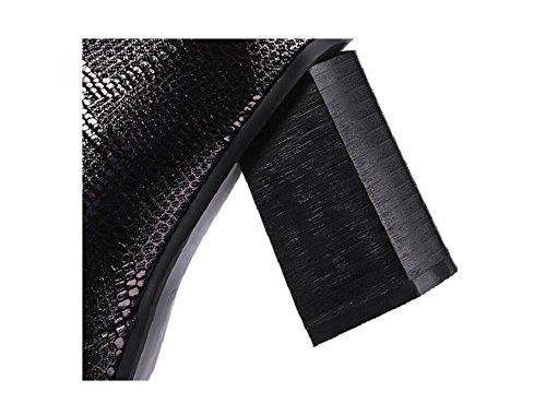 Spessore tacchi e addensare Bootie cotone sottile cachemire caldi stivali di pelle di pecora in pelle corto femminile , 35