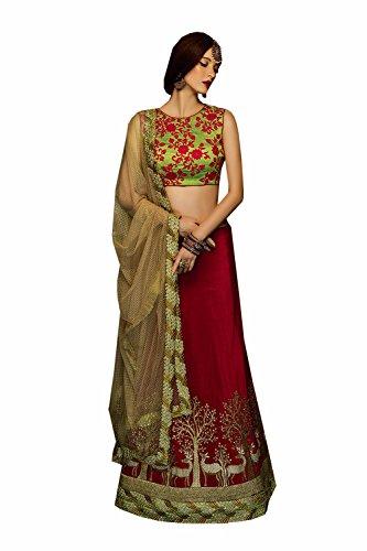 IWS Indian Women Designer Wedding orange Lehenga Choli K-4596-40318