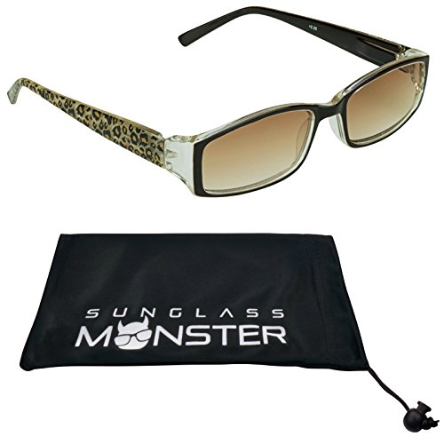 Reading sunglasses for women. Giraffe, Cheetah, Pink Cheetah or Zebra Print Frames (Zebra Print Glasses)