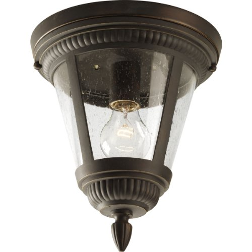 - Progress Lighting P3883-20 1-Light Close-to-Ceiling, Antique Bronze