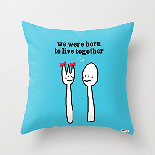 We were born to live together Pillowcase - Anniversary gifts for men -Romantic Pillow Cover - Romantic bedding - Boyfriend gift - Valentines Gift - Couple pillowcase - - Vouchers Gift Tiffany