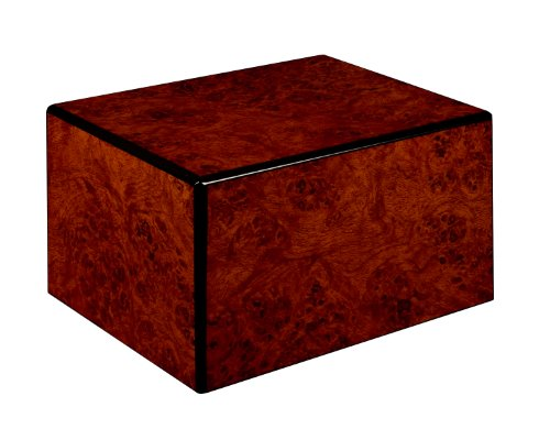 (Chateau Urns Society Collection, Large Adult Cremation Urn, Burl Wood Finish)