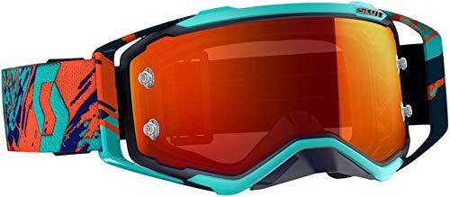 Scott Prospect Adult Off-Road Motorcycle Goggles - Blue/Orange/Orange Chorme Works/One Size