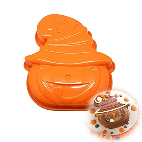 1 piece Halloween Pumpkin Shape Silicone Cake Mold Baking Tart Bread Mousse Jelly Pudding Chocolate Halloween Cake decorating -