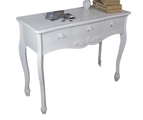 elbmöbel.de Secrétaire Rosali, nuovo modello in stile campagnolo, colore bianco anticato