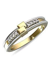 JewelsForum Women's Diamond Ring Band 14Kt Yellow Gold Hi I1/I2 0.07 Carats Round Cut