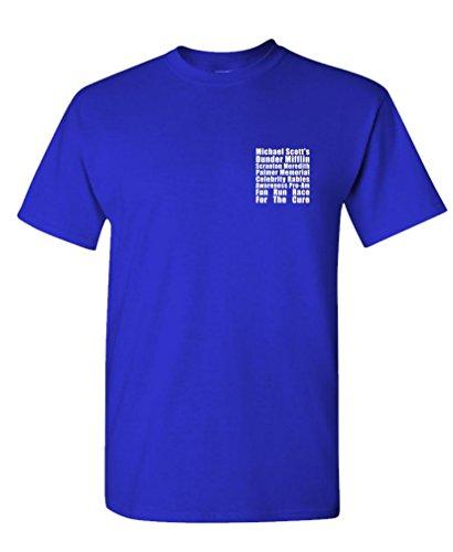 Fun Run - Dunder Mifflin Michael Scott tv - Mens Cotton T-Shirt, M, Royal (Best Cure For The Runs)