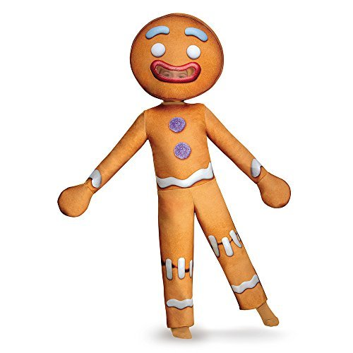 [Disguise Gingy Deluxe Costume, Small (4-6) by Disguise] (Shrek Gingy Costume)