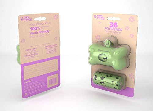Earth Friendly EFDS36S Bone Shaped Dispenser with 2 Refill Rolls 36 Bags Lavender Scented by Loyal (Solid Core Bone)