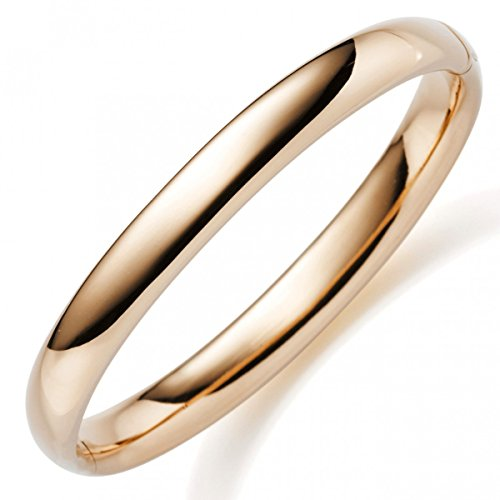 Toutes les 8 mm, bracelet en or jaune 585 en or brillant lisse