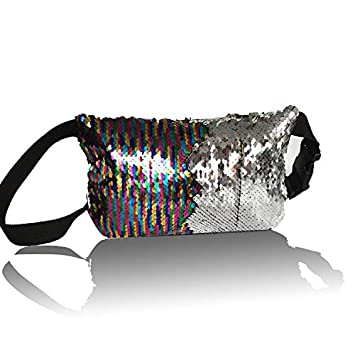 Lannmart Reversible Sequin Glitter Waist Fanny Pack Belt Bum Bag Pouch Hip  Purse Waist Packs Money 1c433dbb9b6a