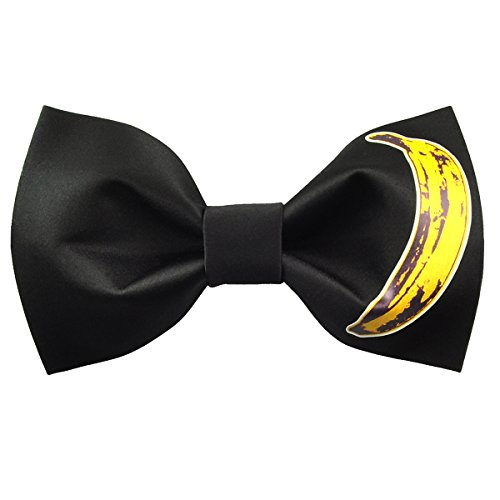 - 100% Satin Silk Mens Pre-tied Bowtie Solid Bow Ties-Pattern Series (Banana)