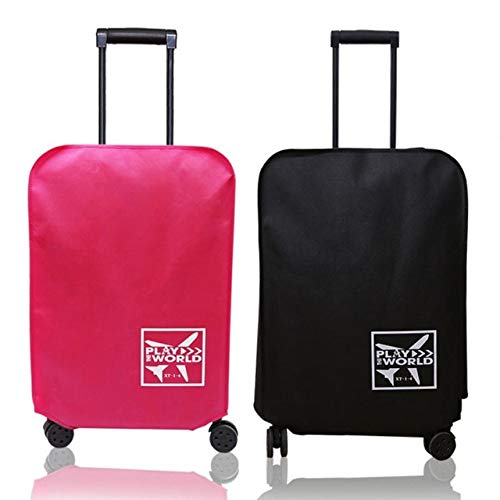 Davitu Suitcase Cases Travel Protective Covers for Suitcases Elastic Luggage Cover Protector Apply to 20-30 inch Trolley Trunk Case - (Color: Black, Specification: 30-inch)