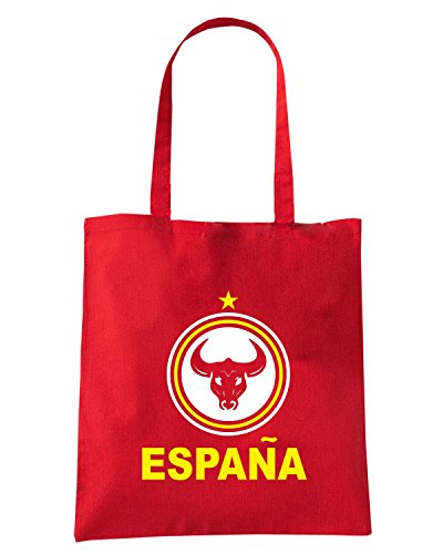 T-Shirtshock - Bolsa para la compra T0727 ESPANA calcio ultras Rojo