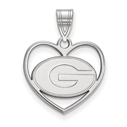 Collegiate University of Georgia Sterling Silver LogoArt University of Georgia Pendant in -