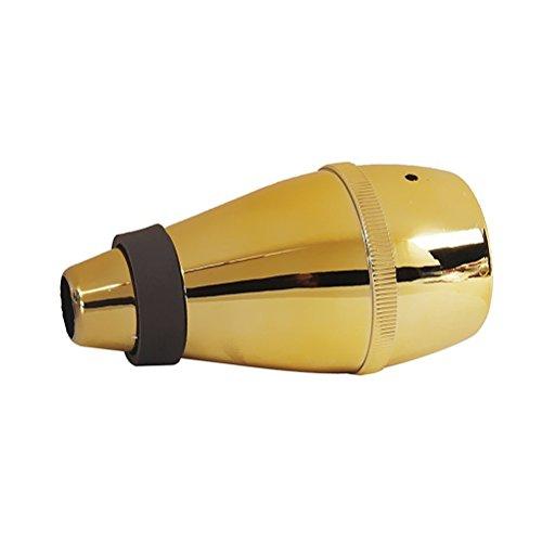 UEETEK Trumpet Mute for Practice (Gold)