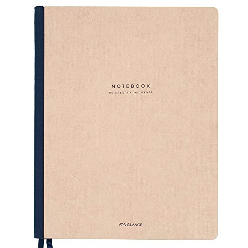 AT-A-GLANCE Notebook, Casebound, Ruled, 80 Sheets, 11 x 8-3/4