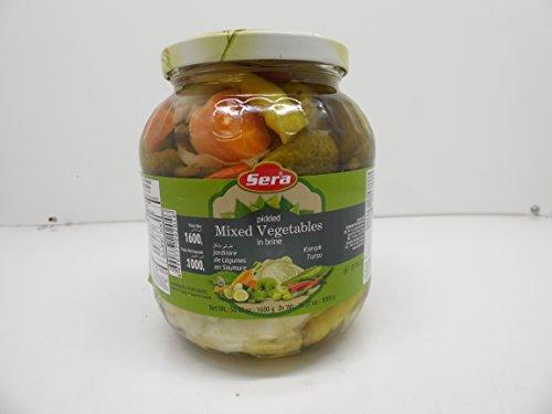 Sera Turkish Pickled Mixed Vegetables, Net Wt. 56.43 oz (Dr. Wt.35.27 (Pickled Turkey Pickles)