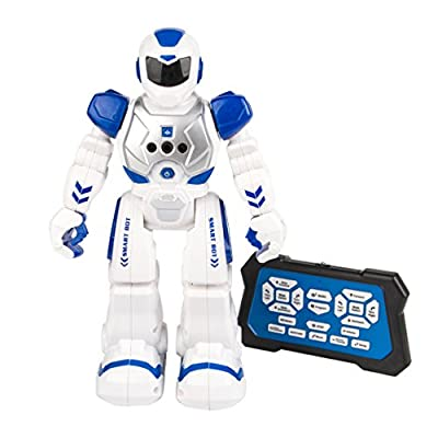 Shangda Kids Robot Toys Smart Action Robot Toy RC Remote Control with Infra-red Transmitter Allows Gesture Control
