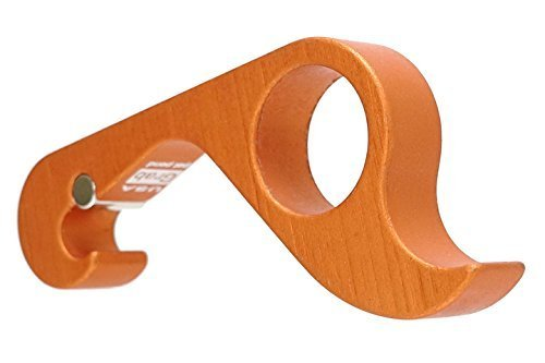 Squeeze One Handed Can Opener - GrabOpener Grab Opener Orange One-Handed Aluminum Magnetic Bottle Can Opener - American Made