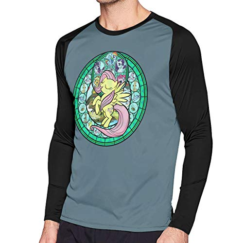 LightCa Fluttershy My Little Pony Long Sleeve Contrast Print T Shirts for Adult Black 31 -