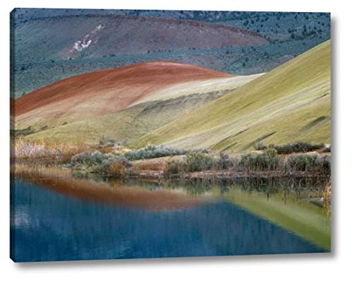 Painted Hills Reflected in Water, John Day Fossil Beds National Monument, Oregon by Tim Fitzharris - 9
