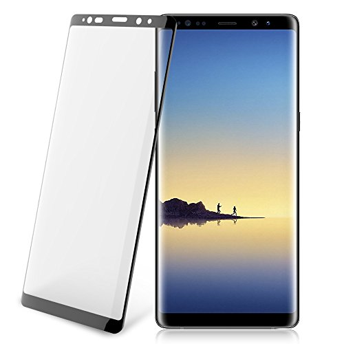 Galaxy Note 8 Screen Protector, Anti-Scratch 3D Curved Full Coverage Tempered Glass for Samsung Note8 [0.33mm, Black]