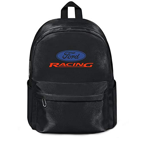 Womens Girl Boys Bag Purse Classic Nylon Water Resistant School Backpack Ford-Performance-Racing-Logo- College Bookbag Black