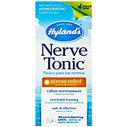 Hyland's Nerve Tonic Stress Relief Tablets, Natural Relief of Stress, 100 Count