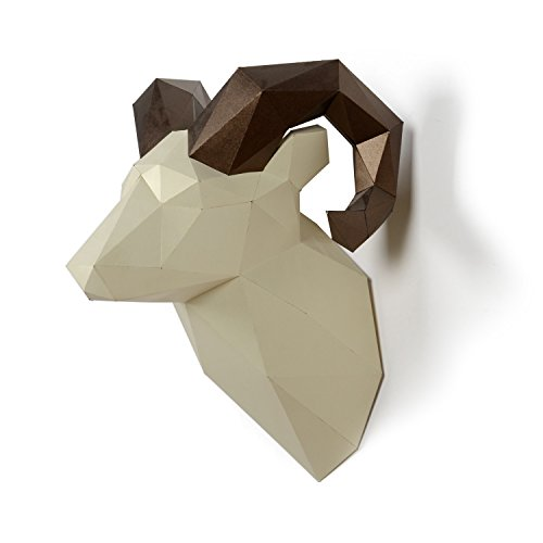 Timorn DIY Pre-cut Papercraft Assembly Kit 3D Wall Ram Head Trophy (Ram)