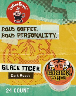 BLACK TIGER K CUP COFFEE 120 COUNT by Coffee People