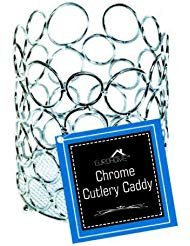 Euro-Home SS-DK-EW502 Gorgeous Chrome Cutlery Caddy, Multicolor