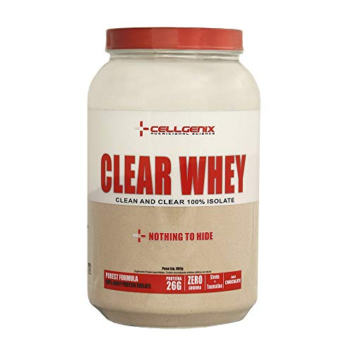 Whey Protein 100% Isolate Clear 907g - Chocolate - Cellgenix