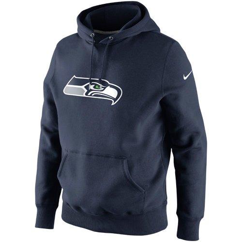 Nike Seattle Seahawks Classic Logo Pullover Hoodie Sweatshirt - College Navy (Nike College Sweatshirts)