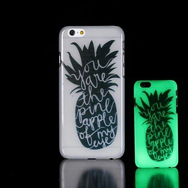 Pineapple Pattern Glow in the Dark Hard Case for iPhone 6